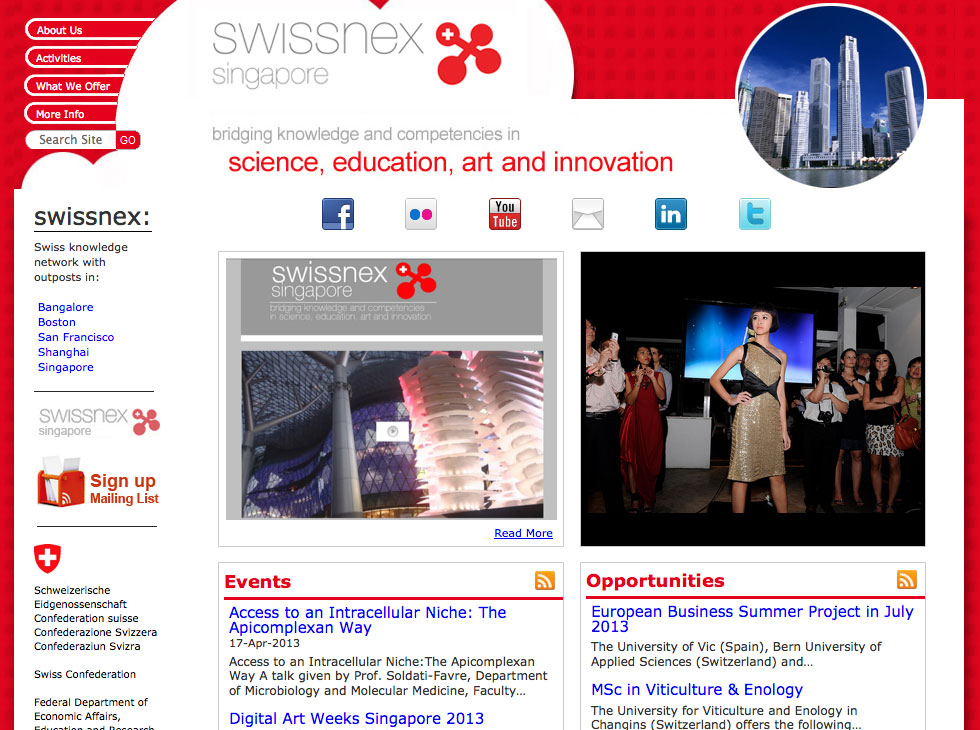 Swissnex Website Home