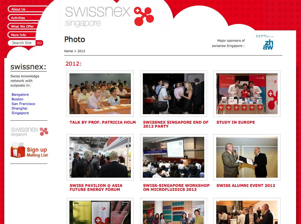 Swissnex Website Event Gallery