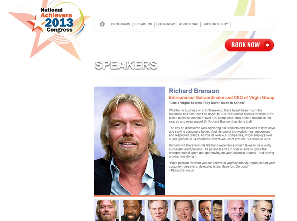 National Achievers 2013 Congress Microsite
