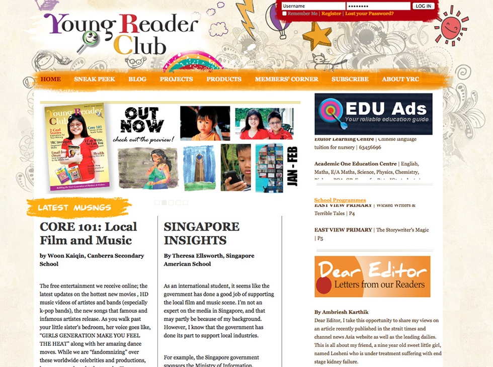 Young Reader Club Website